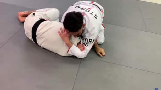 Darce Choke from Half Guard Top Position
